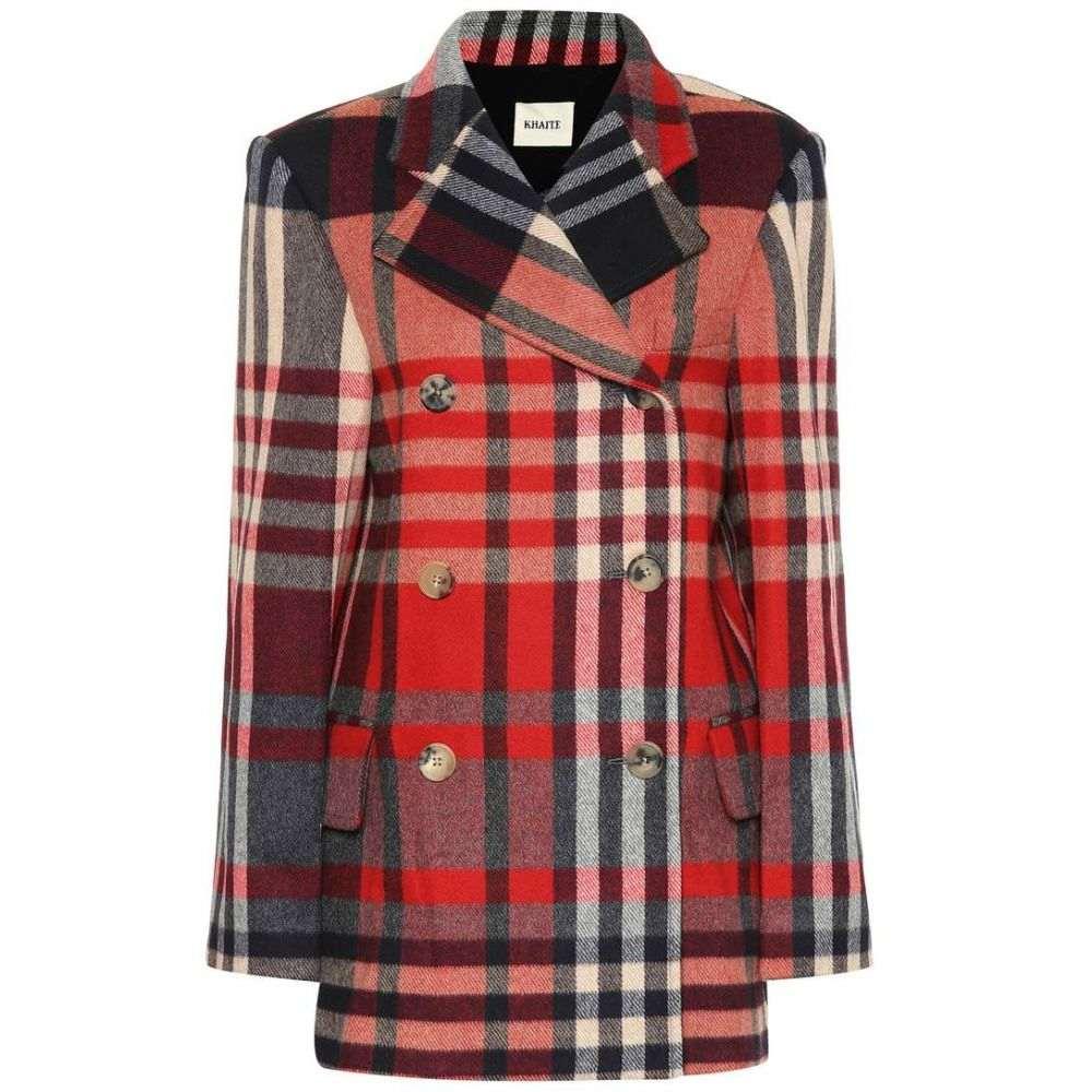 カイト Khaite レディース アウター スーツ・ジャケット【The Clara checked wool-blend coat】Red Plaid