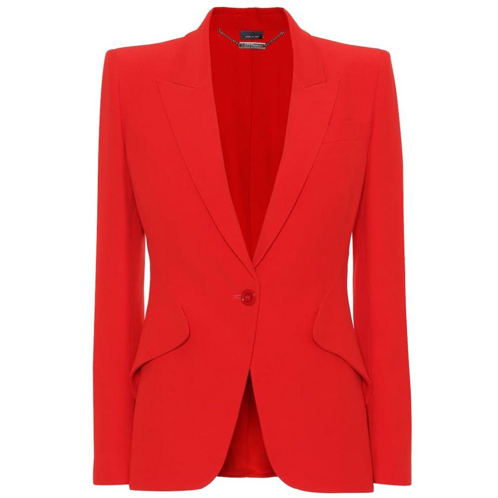 アレキサンダー マックイーン Alexander McQueen レディース アウター スーツ・ジャケット【Single-breasted crepe blazer】Lust Red