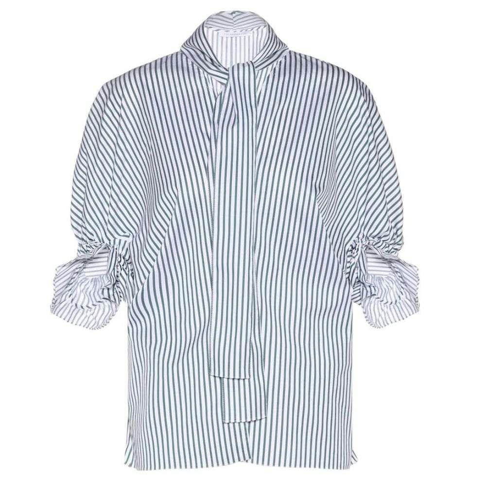 J.W.アンダーソン JW Anderson レディース トップス ブラウス・シャツ【short-sleeved cotton blouse】Shamrock Stripe