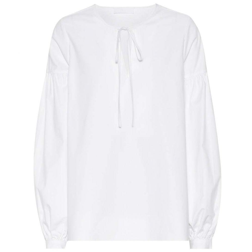 コー Co レディース トップス【Sateen cotton top】White