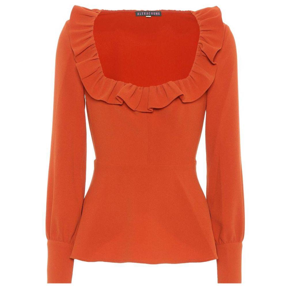 アレクサチャン AlexaChung レディース トップス ブラウス・シャツ【Ruffled blouse】Orange