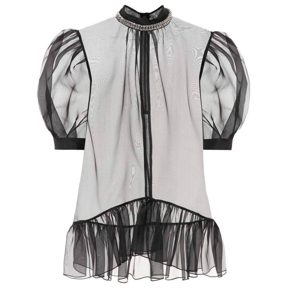 クリストファー ケイン Christopher Kane レディース トップス ブラウス・シャツ【Sheer silk blouse】Black