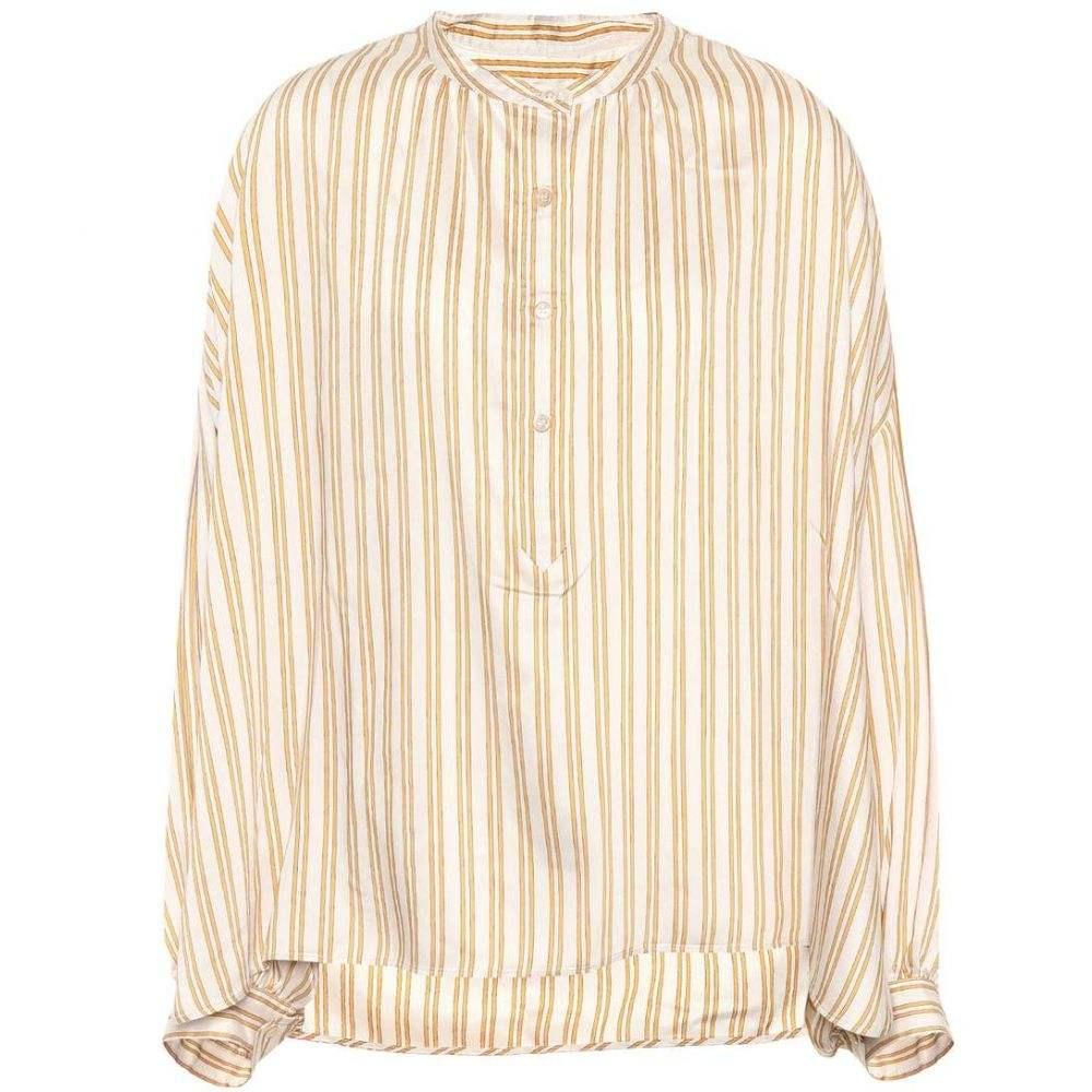 イザベル マラン Isabel Marant レディース トップス ブラウス・シャツ【Ilda striped silk-blend blouse】Amber Gold