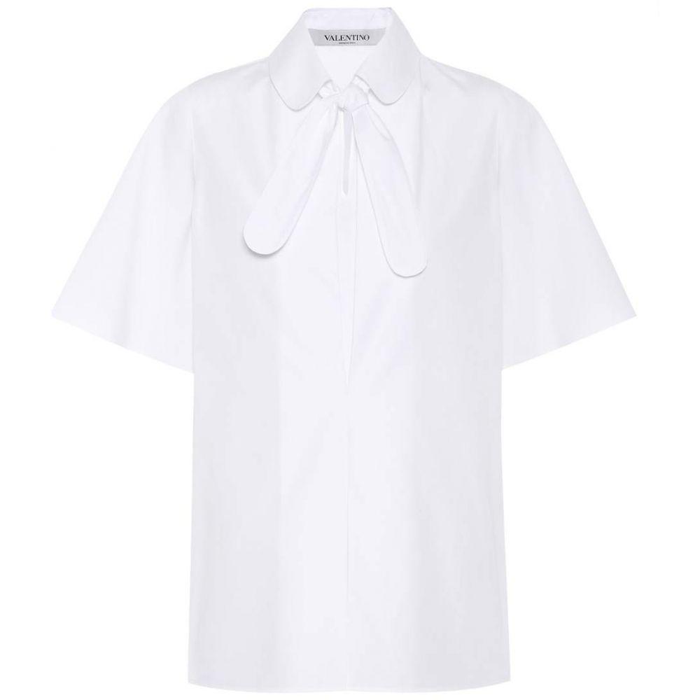 ヴァレンティノ Valentino レディース トップス ブラウス・シャツ【Cotton-poplin shirt】White