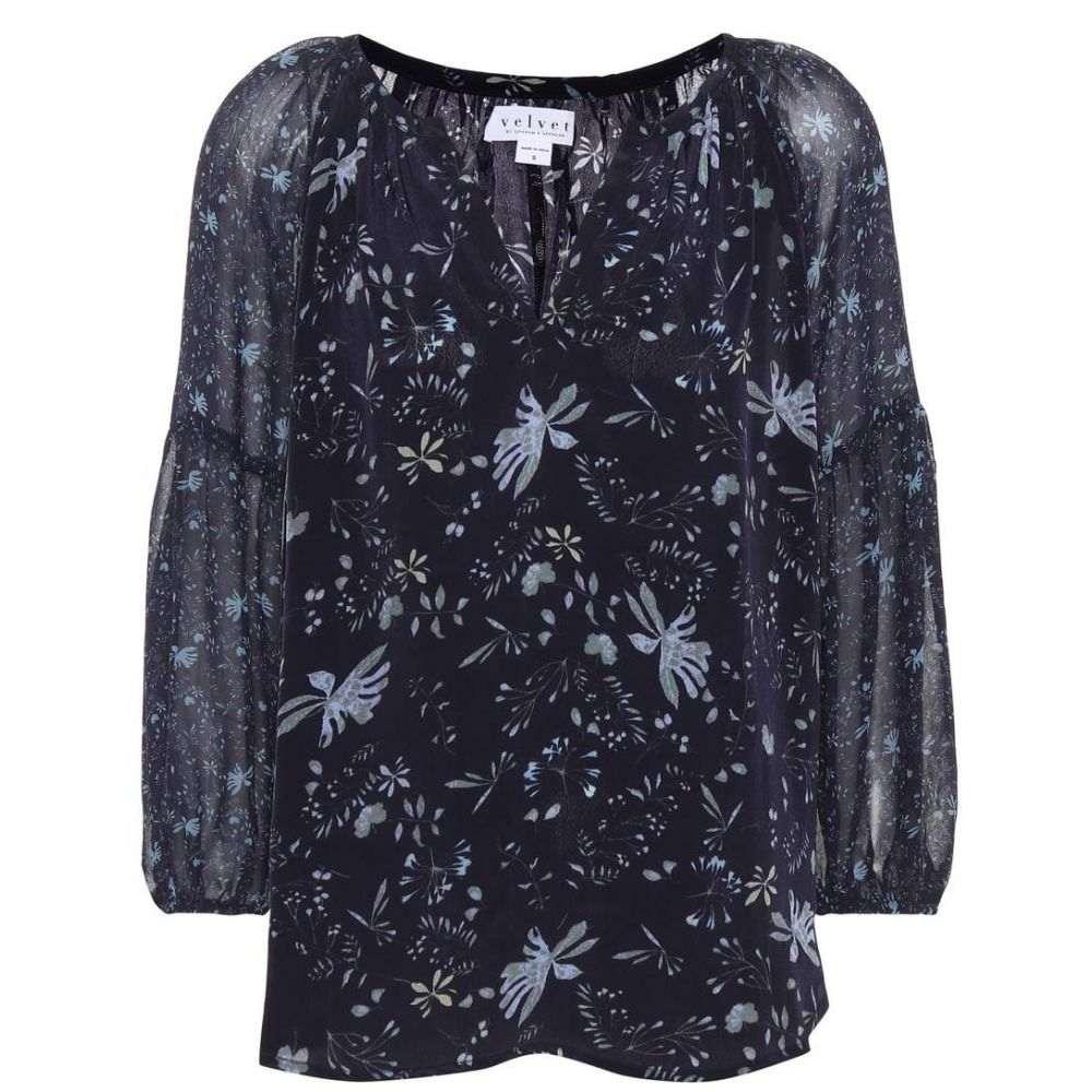 ベルベット グラハム&スペンサー Velvet レディース トップス ブラウス・シャツ【Kandee floral-printed blouse】Blue Floral