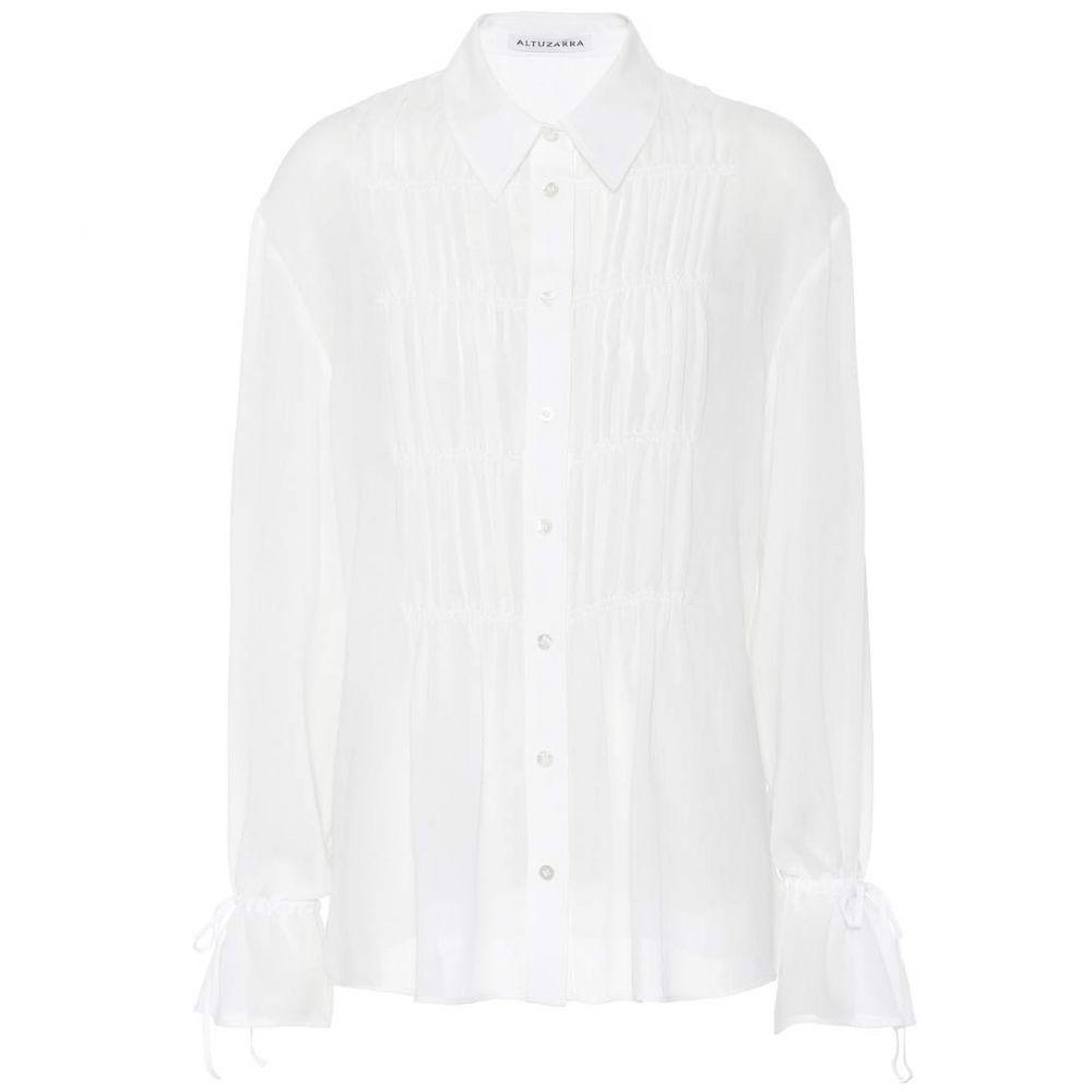 アルチュザラ Altuzarra レディース トップス ブラウス・シャツ【Chateau gathered pintuck blouse】Optic White