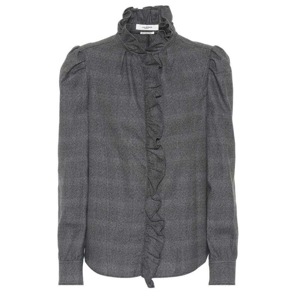 イザベル マラン Isabel Marant, Etoile レディース トップス ブラウス・シャツ【Dules cotton blouse】Anthacite