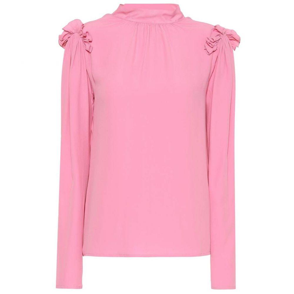 エムエスジーエム MSGM レディース トップス ブラウス・シャツ【Silk crepe di chine blouse】Pink