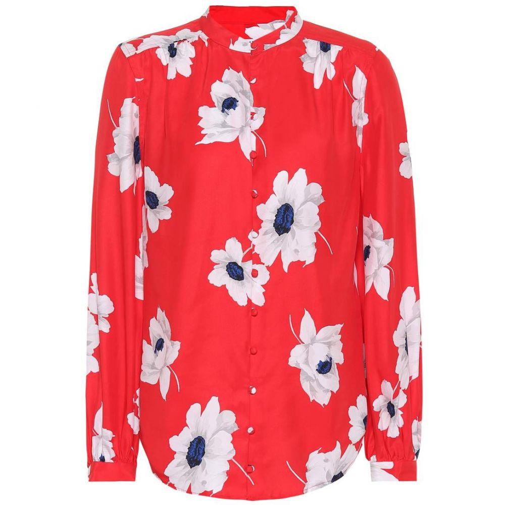 エキプモン Equipment レディース トップス ブラウス・シャツ【Leema floral silk shirt】Blood moon multi