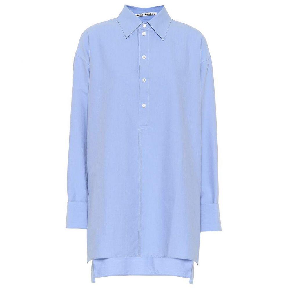 アクネ ストゥディオズ Acne Studios レディース トップス ブラウス・シャツ【Cotton oxford shirt】Sky Blue