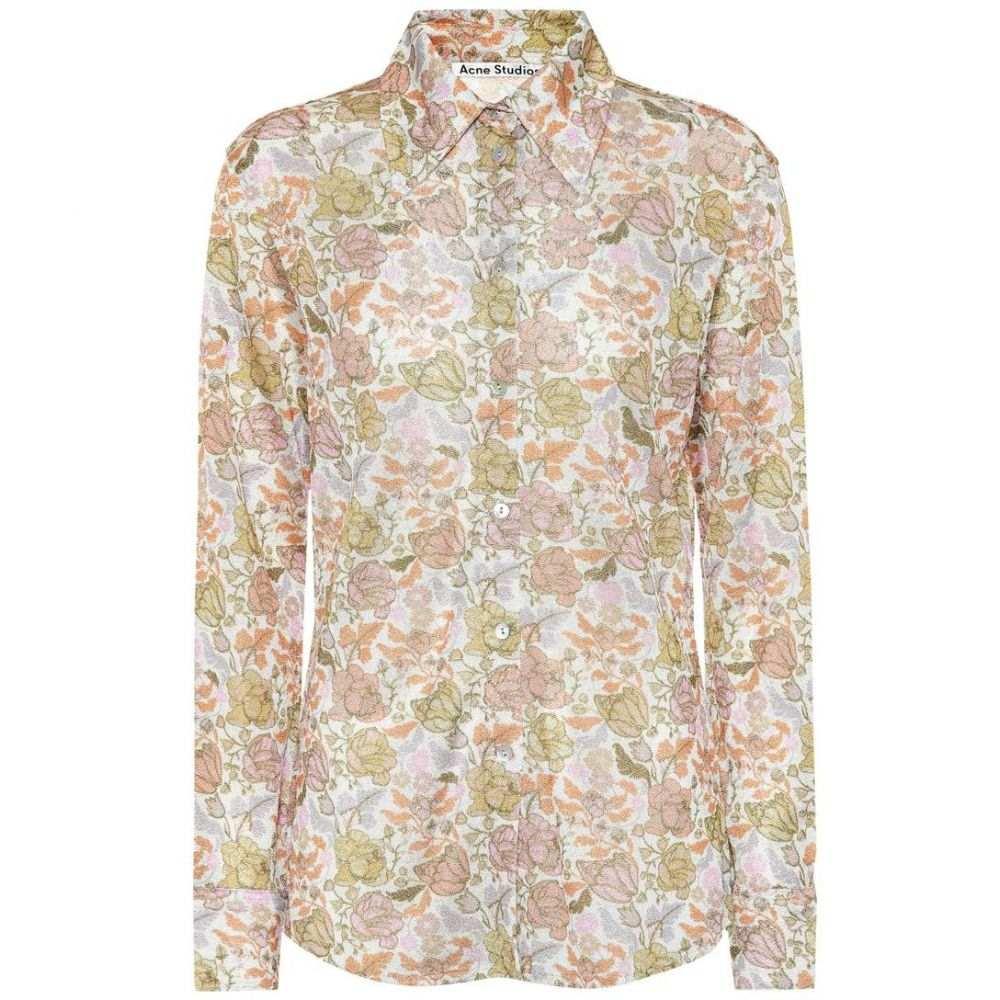 アクネ ストゥディオズ Acne Studios レディース トップス ブラウス・シャツ【Floral shirt】green/peach