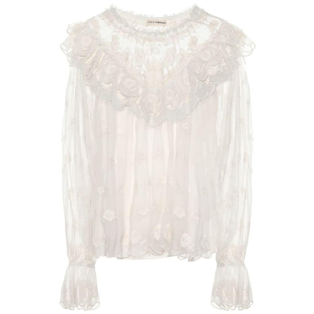 ウラ ジョンソン Ulla Johnson レディース トップス ブラウス・シャツ【Lucien embroidered blouse】Pearl