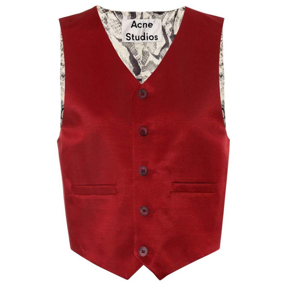 アクネ ストゥディオズ Acne Studios レディース トップス ベスト・ジレ【Janay wool-blend vest】Crimson Red