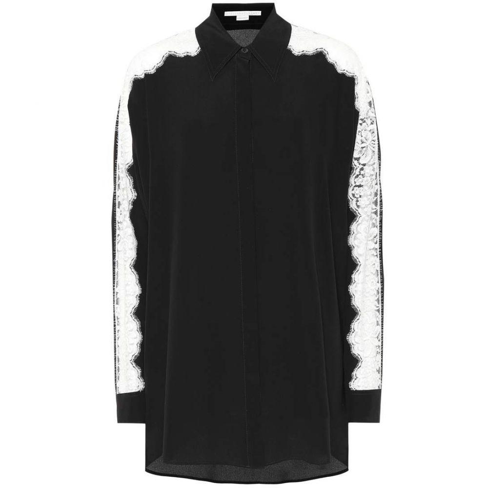 ステラ マッカートニー Stella McCartney レディース トップス ブラウス・シャツ【Silk and lace shirt】Black
