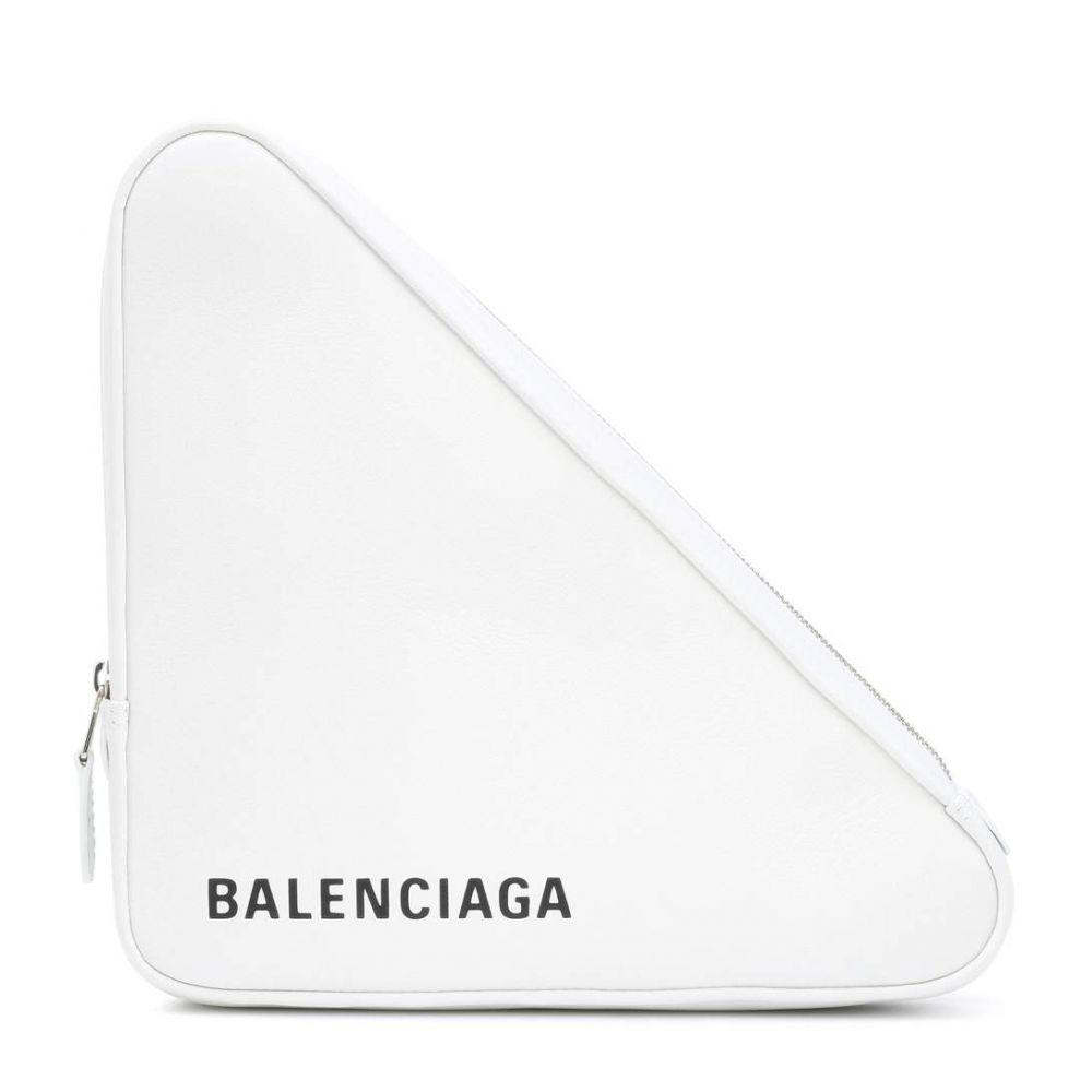 バレンシアガ レディース Balenciaga レディース バッグ クラッチバッグ バッグ【Triangle バレンシアガ M leather clutch】Blanc/Noir, ambiance:c627067b --- sunward.msk.ru