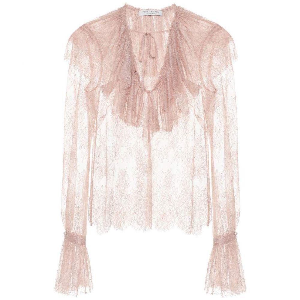 フィロソフィ ディ ロレンツォ セラフィニ Philosophy Di Lorenzo Serafini レディース トップス ブラウス・シャツ【Lace blouse】Blush
