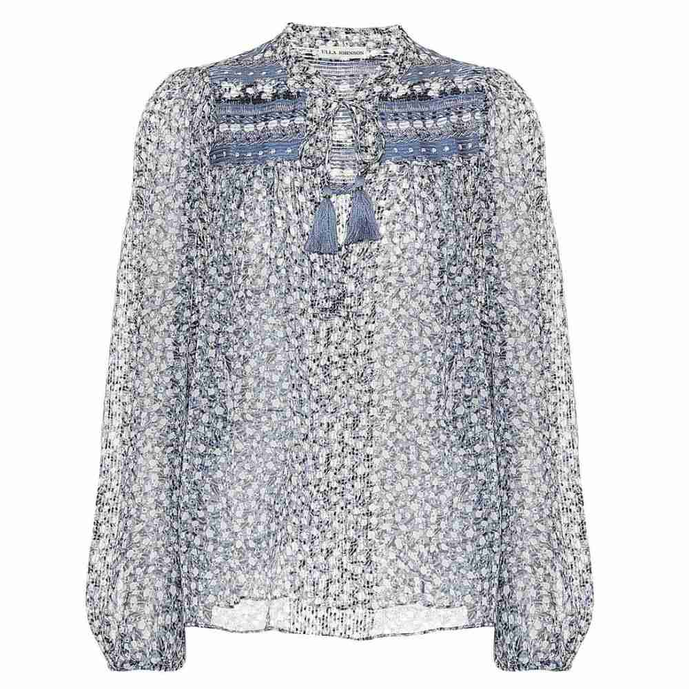 ウラ ジョンソン Ulla Johnson レディース トップス ブラウス・シャツ【Constance silk blouse】Sky