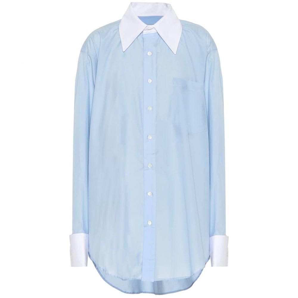 マシュー アダムズ ドーラン Matthew Adams Dolan レディース トップス ブラウス・シャツ【Oversized cotton shirt】blue
