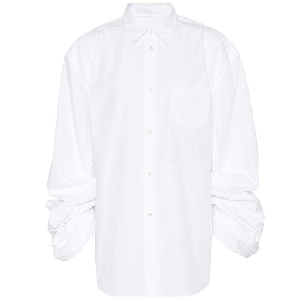 ジュンヤ ワタナベ Junya Watanabe レディース トップス ブラウス・シャツ【Cotton-blend shirt】white