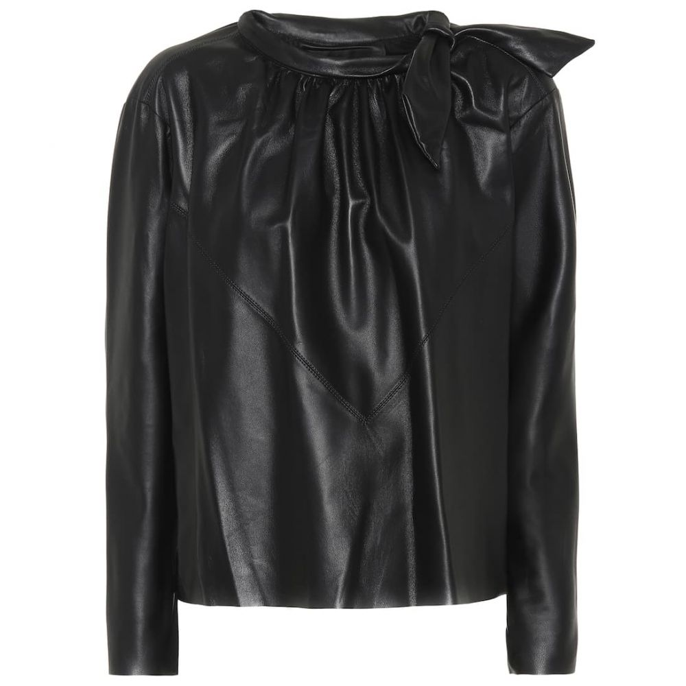 イザベル マラン Isabel Marant レディース トップス ブラウス・シャツ【Chay leather shirt】Black