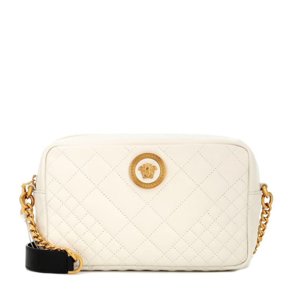 ヴェルサーチ Versace レディース バッグ ショルダーバッグ【Matelasse leather shoulder bag】off white-black-tribute gold