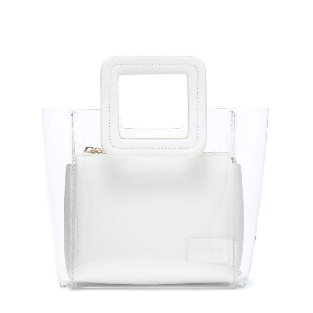 スタッド Staud レディース バッグ トートバッグ【Mini Shirley tote】White/Transparent