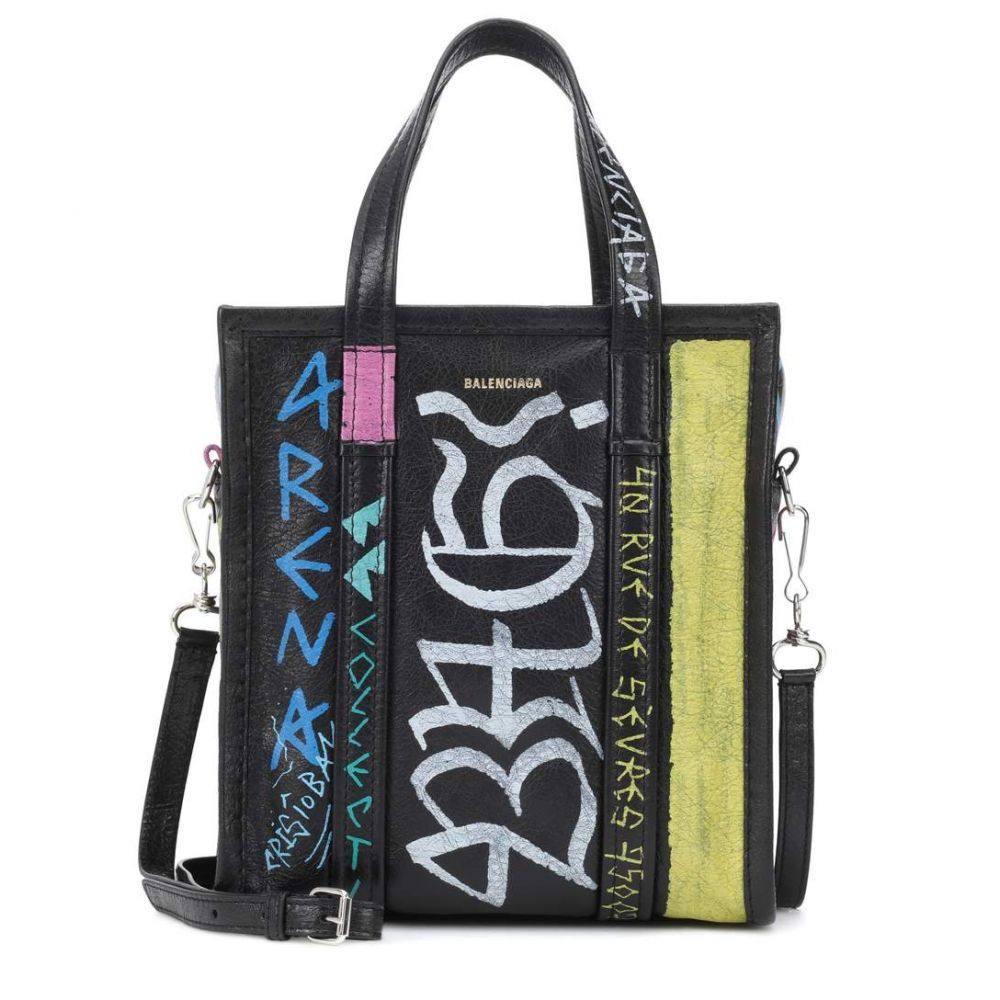 バレンシアガ Balenciaga レディース バッグ トートバッグ【Bazar XS printed leather shopper】Noir/Multicolor