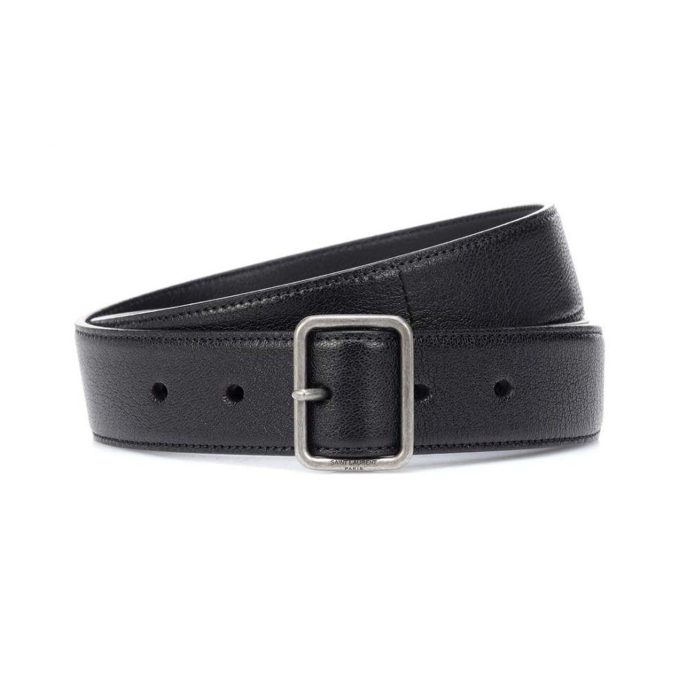 イヴ サンローラン Saint Laurent レディース ベルト【Leather belt】Nero