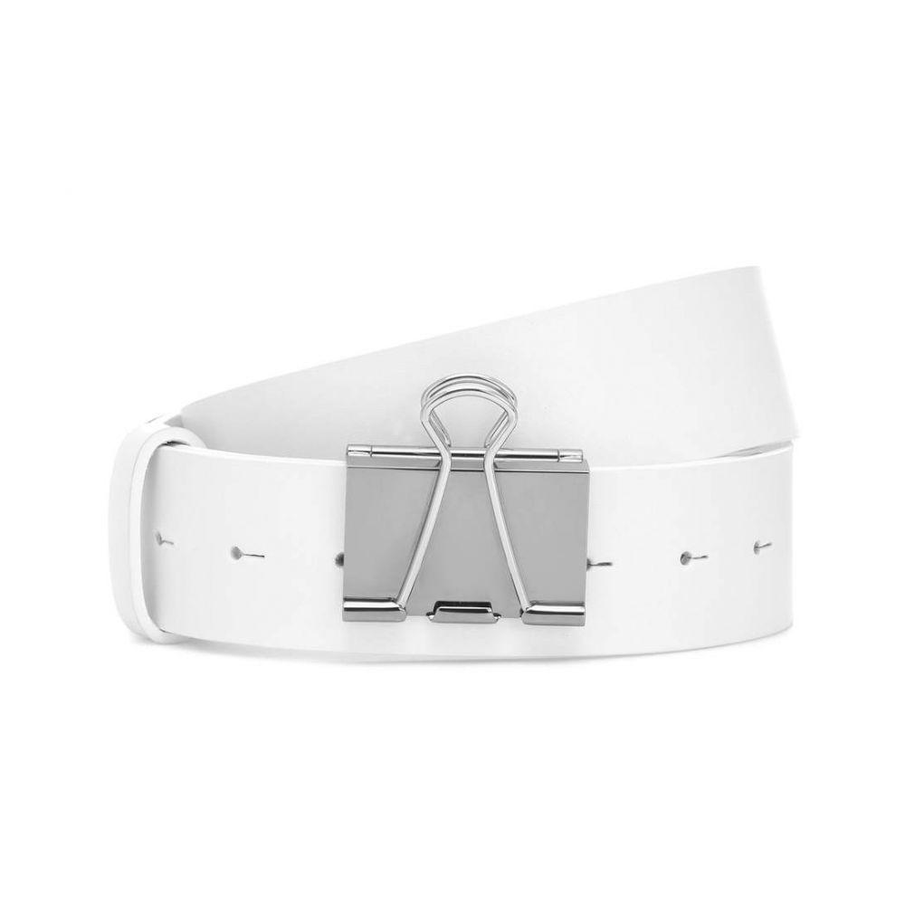 ヴェトモン Vetements レディース ベルト【Leather belt】White