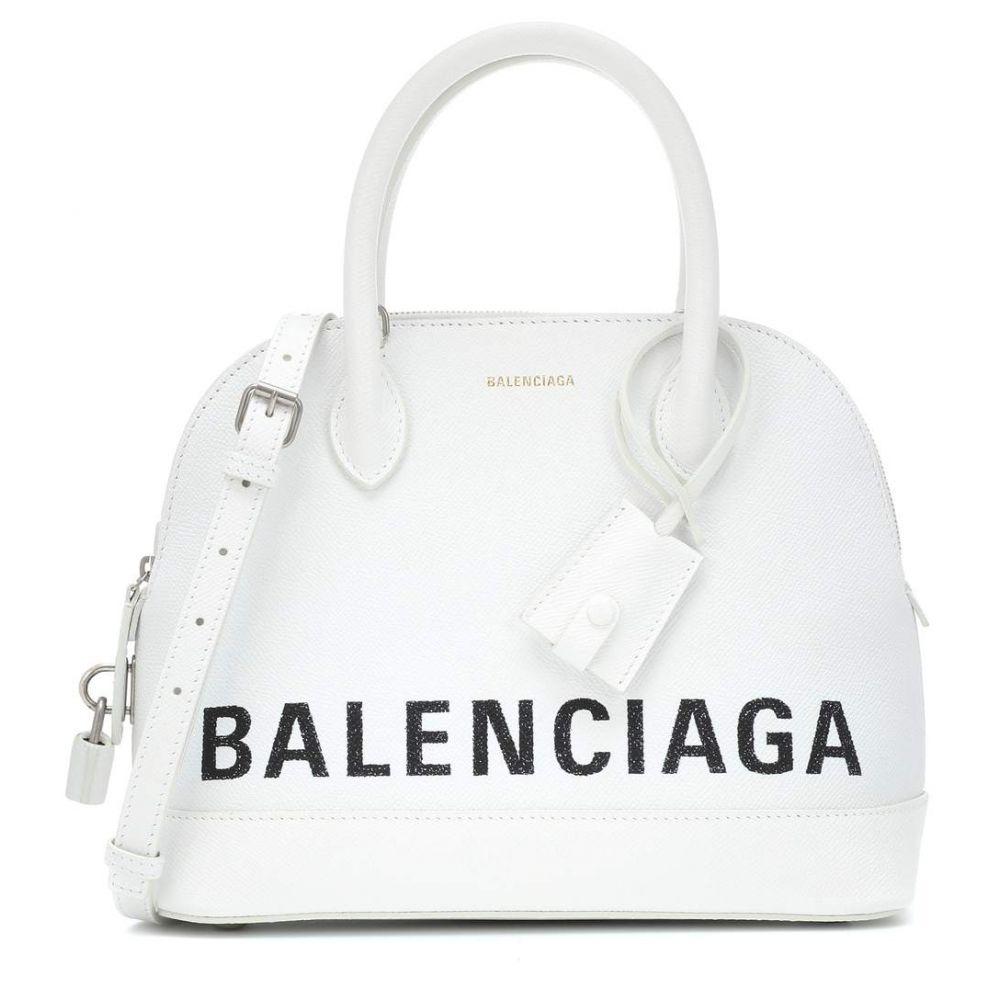 バレンシアガ Balenciaga レディース バッグ トートバッグ【Ville S leather tote】Blanc/L Noir