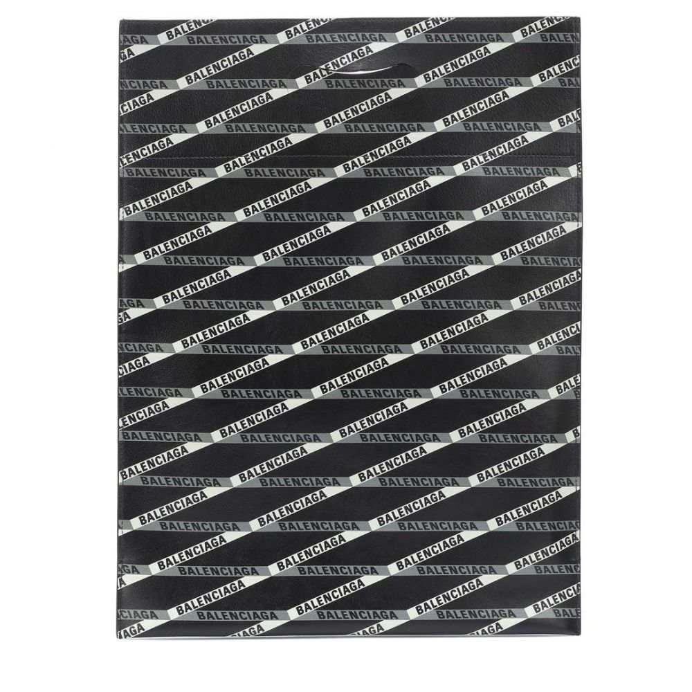 バレンシアガ Balenciaga レディース バッグ トートバッグ【Monogram leather shopper】Noir/Gris