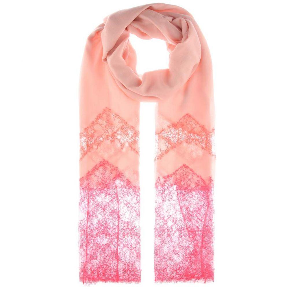 ヴァレンティノ Valentino レディース マフラー・スカーフ・ストール【Cashmere-blend and lace scarf】Pink