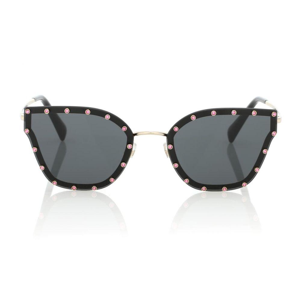 ヴァレンティノ Valentino レディース メガネ・サングラス【Embellished cat-eye sunglasses】