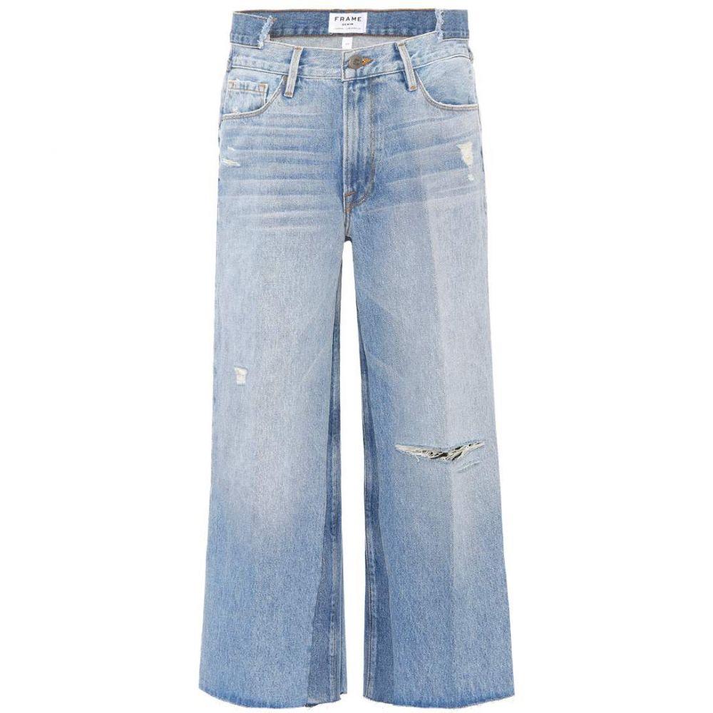 フレーム Frame レディース ボトムス・パンツ ジーンズ・デニム【Cropped wide-leg jeans】Truxton