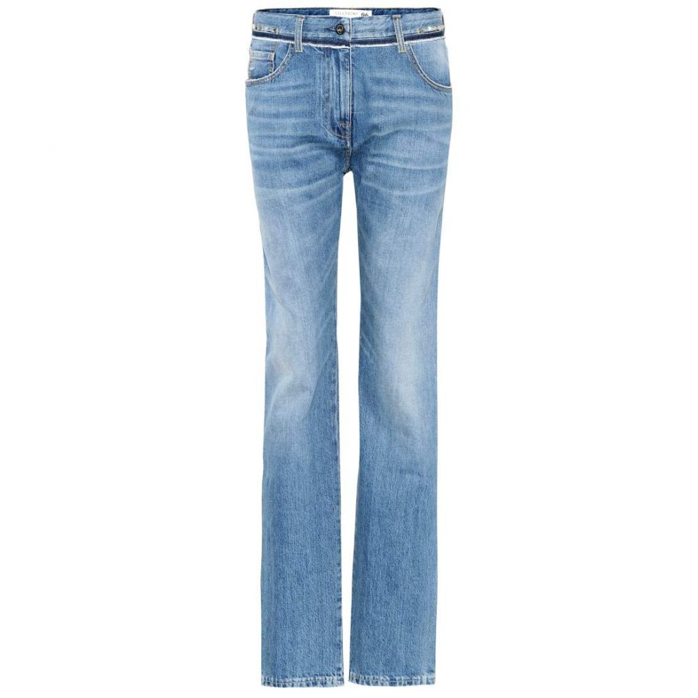 ヴァレンティノ Valentino レディース ボトムス・パンツ ジーンズ・デニム【Rockstud mid-rise jeans】BLUE DENIM