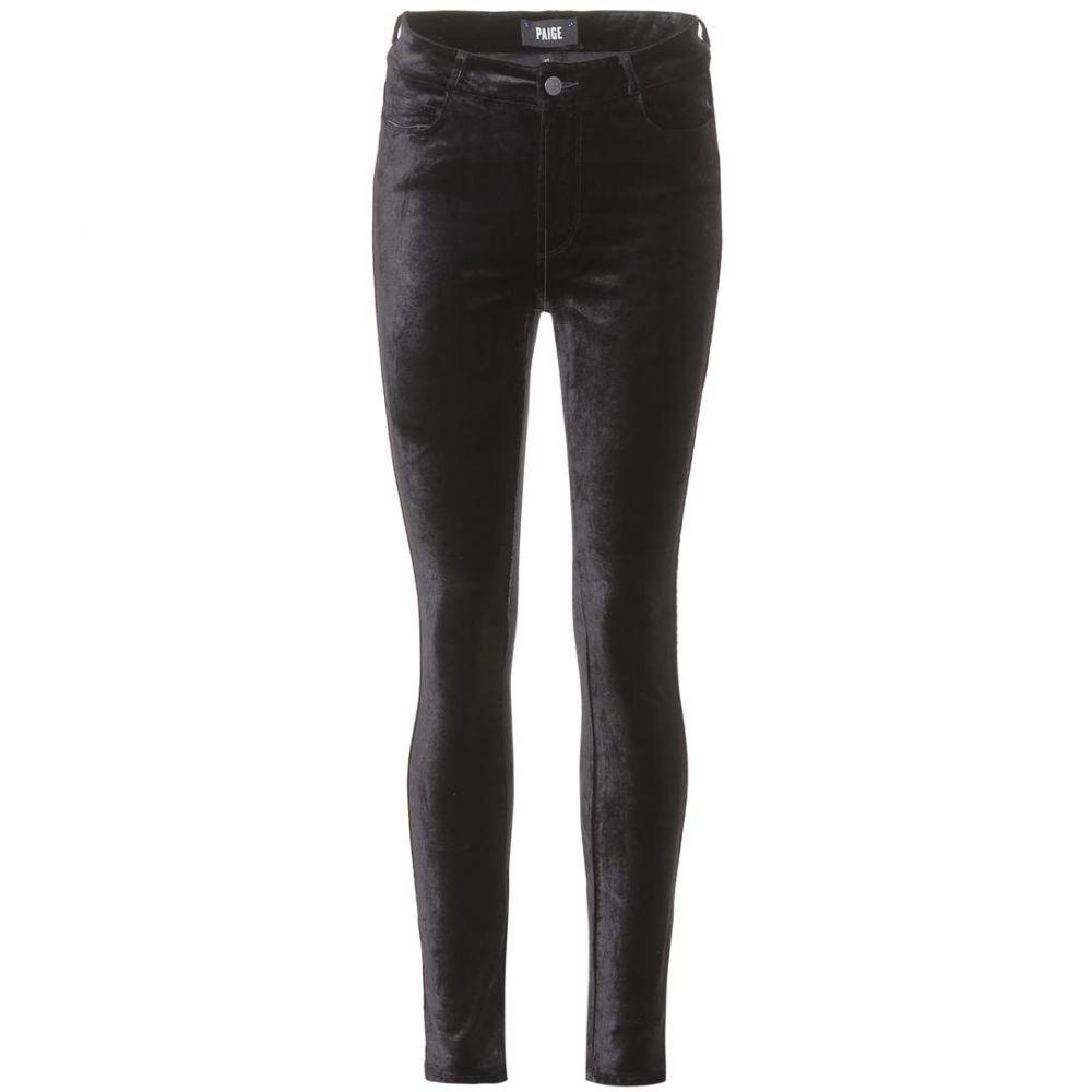 ペイジ Paige レディース ボトムス・パンツ スキニー・スリム【Hoxton velvet skinny trousers】Black