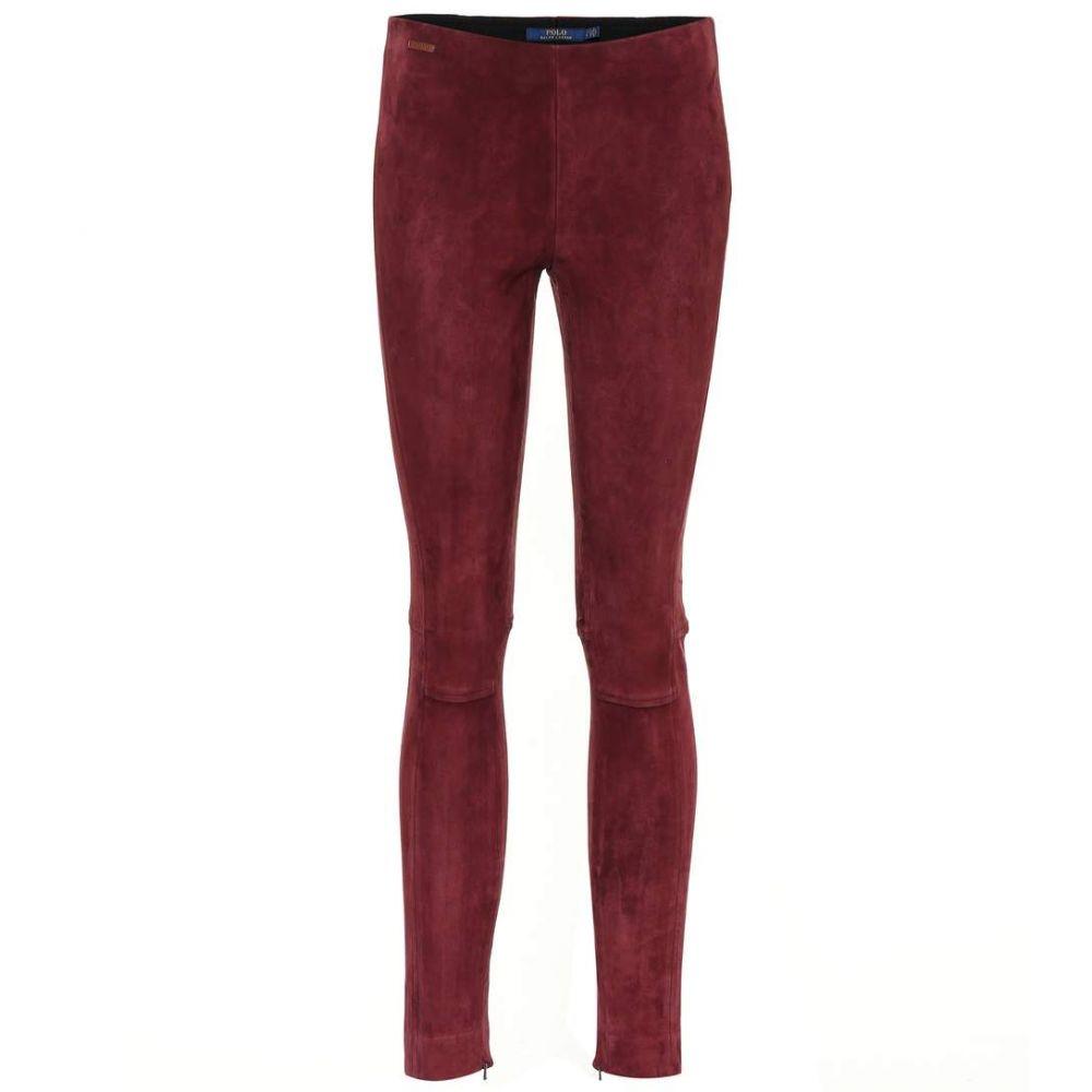 ラルフ ローレン Polo Ralph Lauren レディース ボトムス・パンツ スキニー・スリム【Suede pants】burgundy