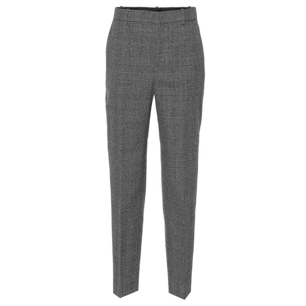 バレンシアガ Balenciaga レディース ボトムス・パンツ スキニー・スリム【Checked wool pants】black/white