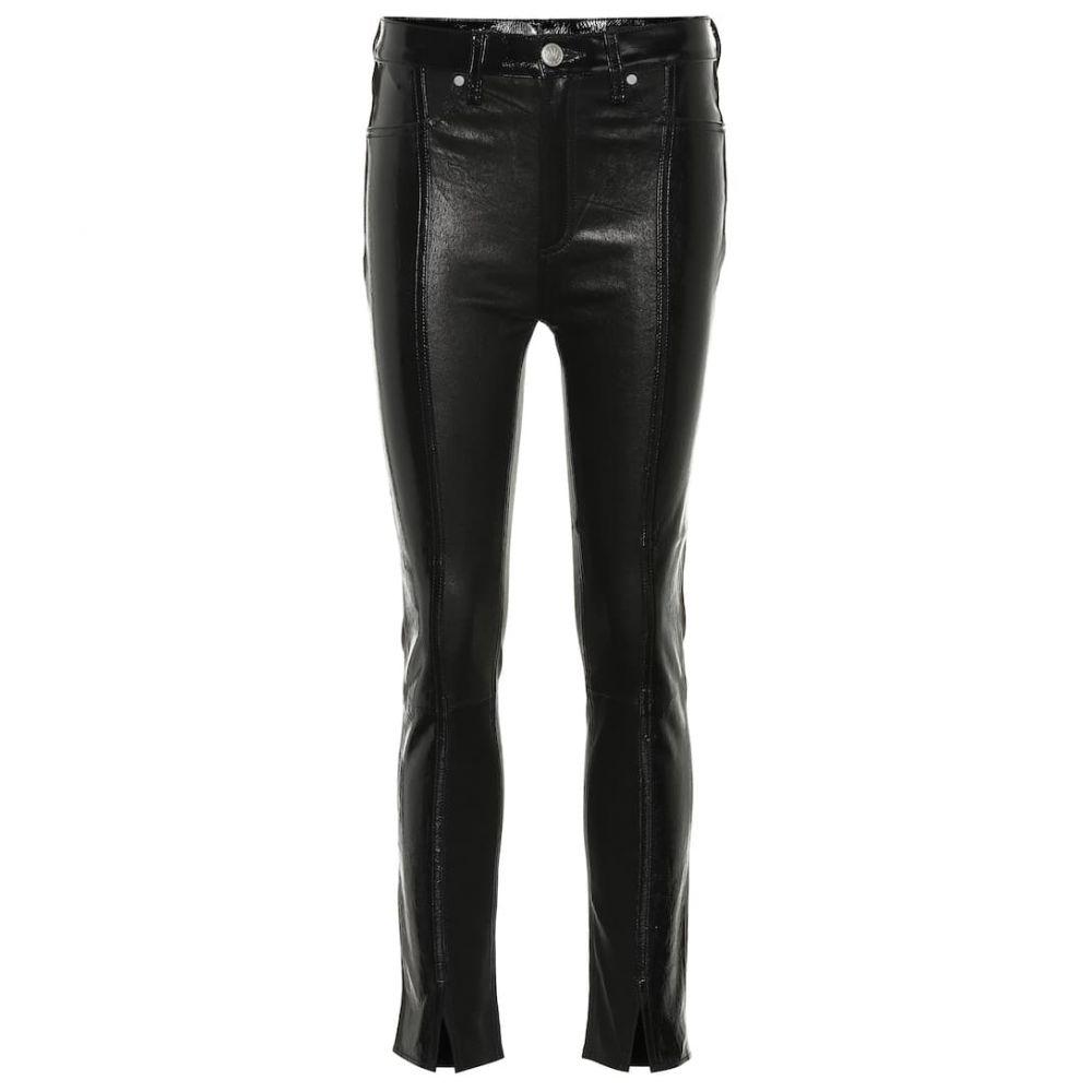 ラグ&ボーン Rag & Bone レディース ボトムス・パンツ ジーンズ・デニム【Evelyn high-rise leather slim jeans】black