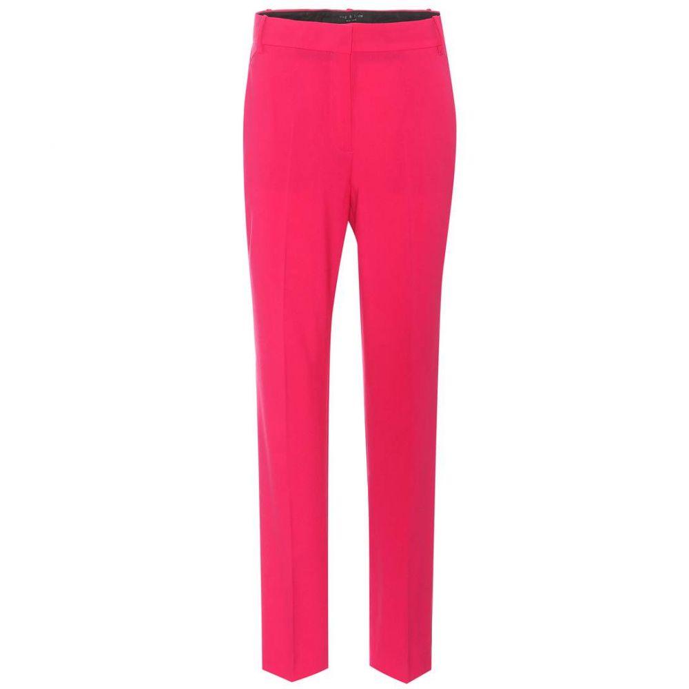 ラグ&ボーン Rag & Bone レディース ボトムス・パンツ【Oman stretch-wool trousers】Pink