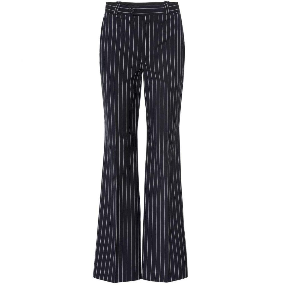アクネ ストゥディオズ Acne Studios レディース ボトムス・パンツ【Ticah pinstriped trousers】Dark Navy