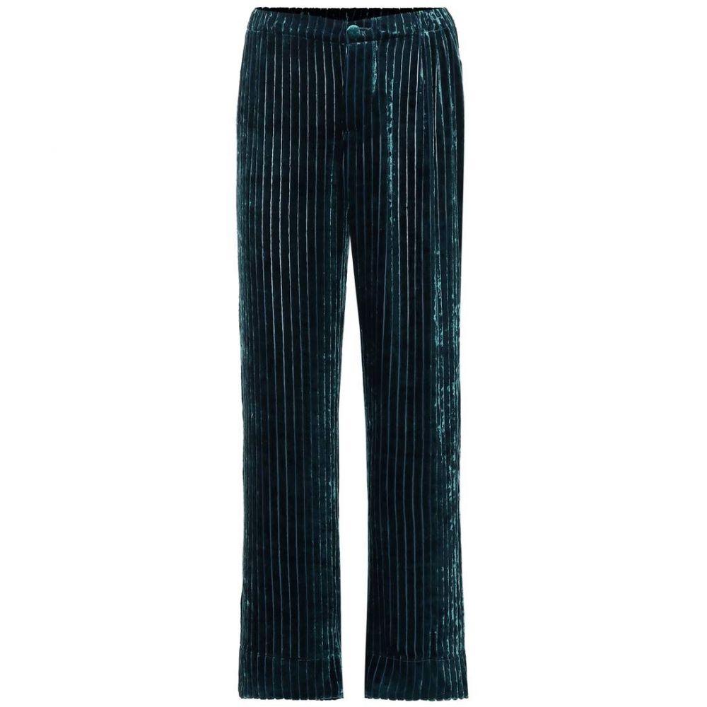 フォーレストレススリーパーズ F.R.S For Restless Sleepers レディース ボトムス・パンツ【Etere velvet corduroy pajama pants】bleu ottanio