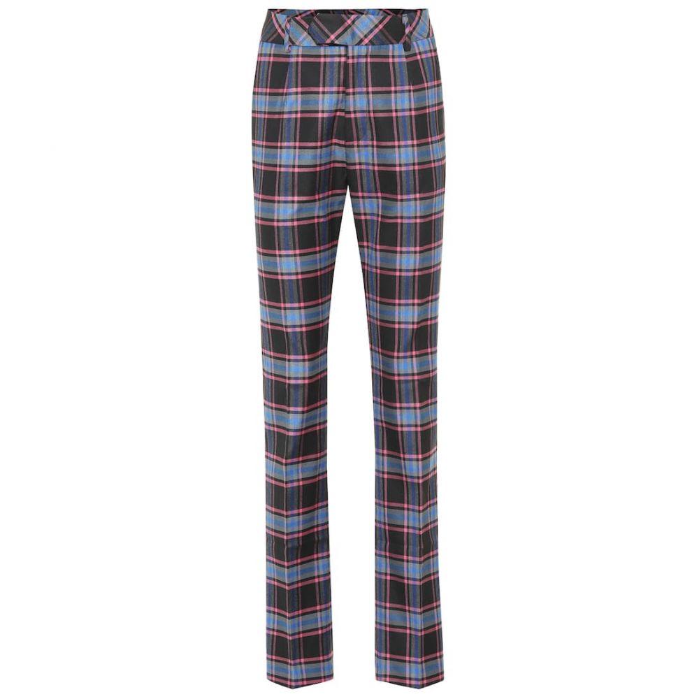 マシュー アダムズ ドーラン Matthew Adams Dolan レディース ボトムス・パンツ【Checked wool-blend pants】Pink