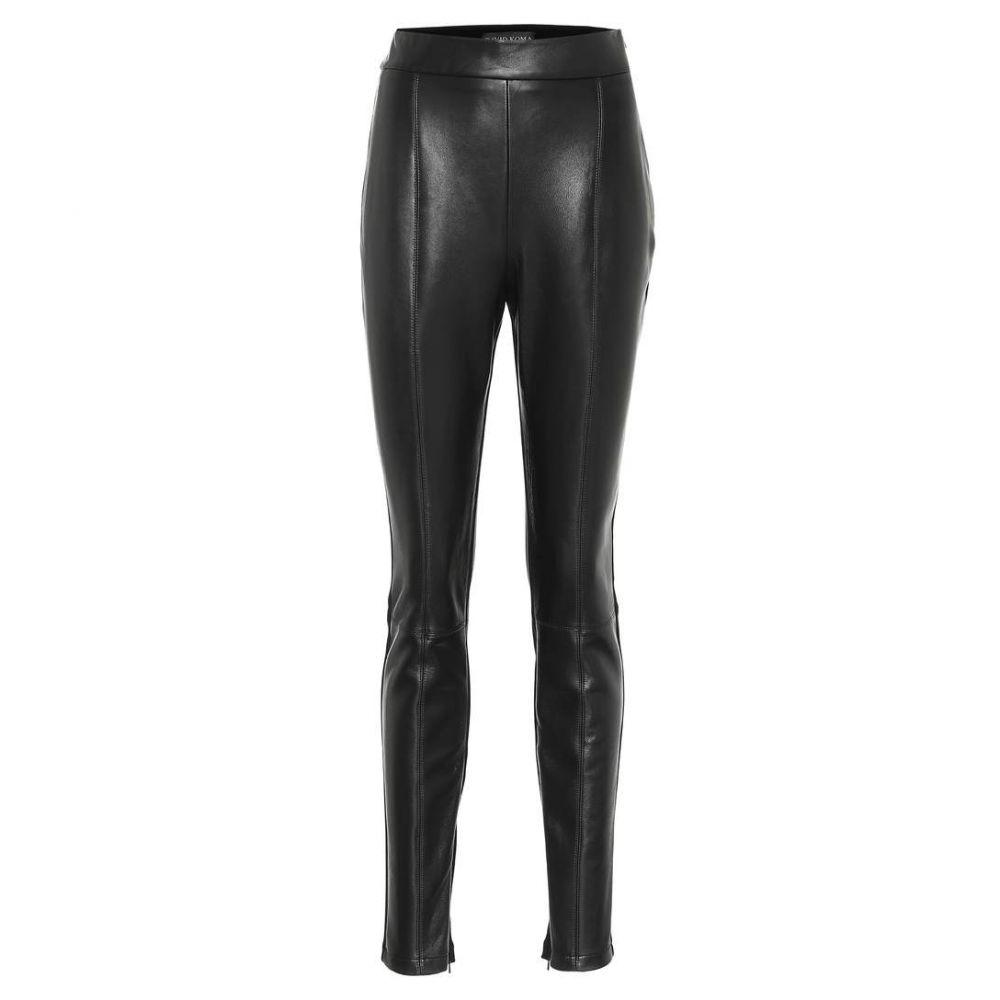 デヴィッド コーマ David Koma レディース ボトムス・パンツ スキニー・スリム【Leather and jersey leggings】black