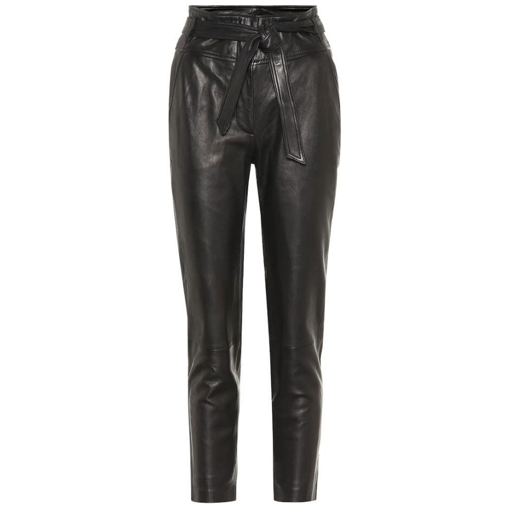 ヴェロニカ ベアード Veronica Beard レディース ボトムス・パンツ【Faxon high-rise leather pants】Black