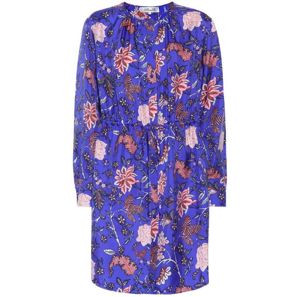 ダイアン フォン ファステンバーグ Diane von Furstenberg レディース ワンピース・ドレス ワンピース【Printed silk dress】Canton Electric Blue