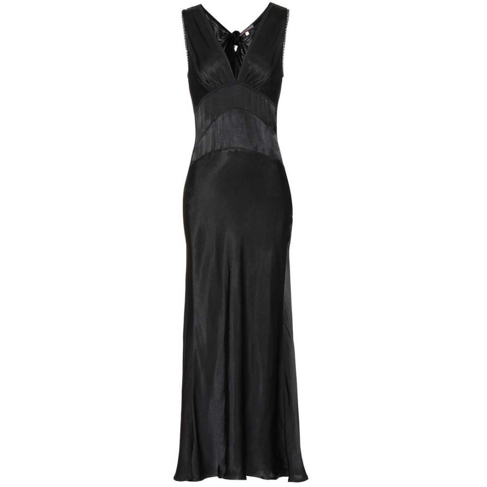 アレクサチャン AlexaChung レディース ワンピース・ドレス パーティードレス【Satin maxi dress】Black