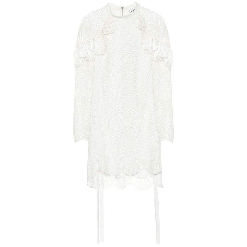 セルフ ポートレイト Self-Portrait レディース ワンピース・ドレス ワンピース【Crochet minidress】Ivory