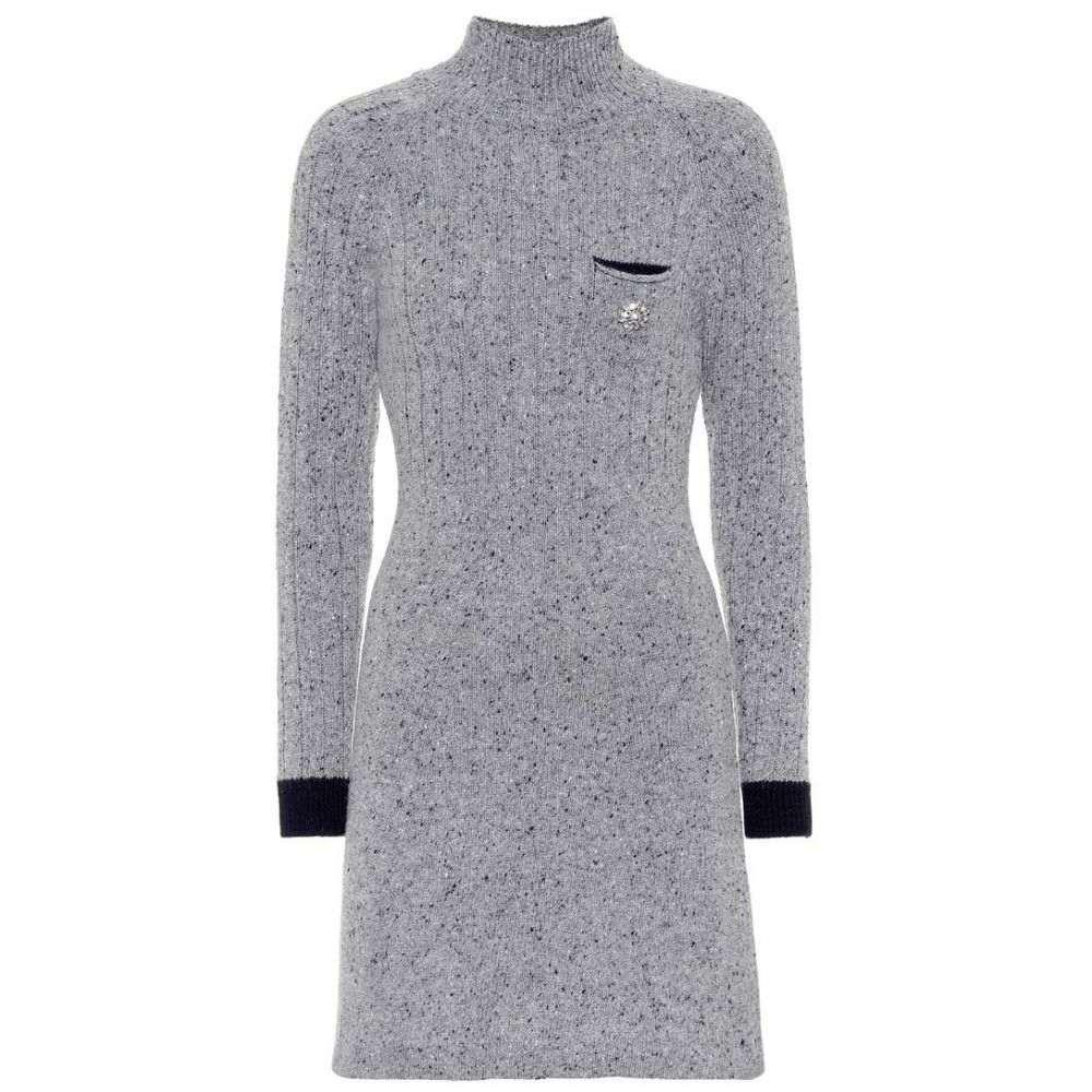 アレクサチャン AlexaChung レディース ワンピース・ドレス ワンピース【Wool-blend minidress】Grey/Navy