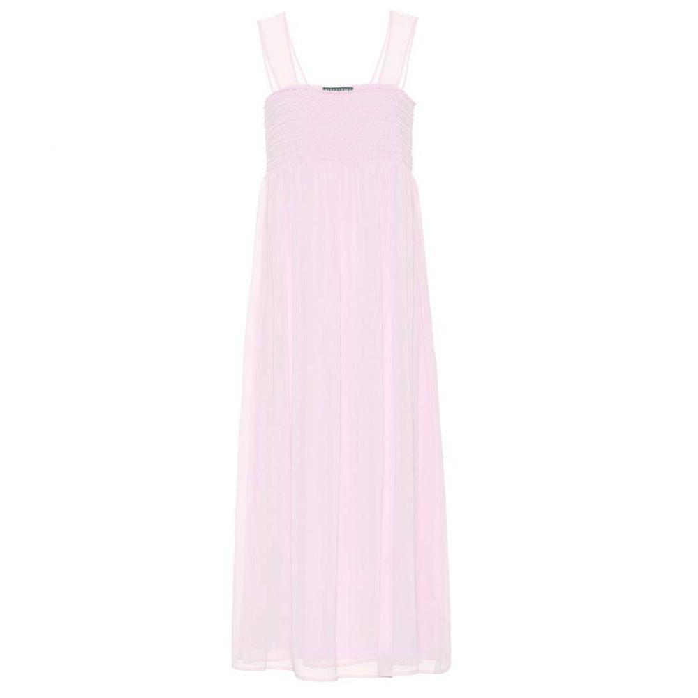 アレクサチャン AlexaChung レディース ワンピース・ドレス ワンピース【Smocked midi dress】Pink